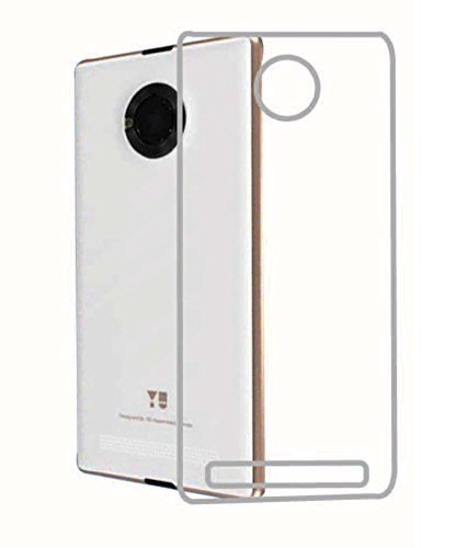 PILBUY Silicone Soft Case Back Cover for Micromax YU Yuphoria - Transparent + Tempered glass