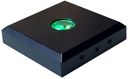 Kaltner Präsente LED Untersetzer Farbverlauf Farbwechsler Leuchtsockel mit Color-Stop Funktion für Stimmungslichter Schwarz (5 LEDs)