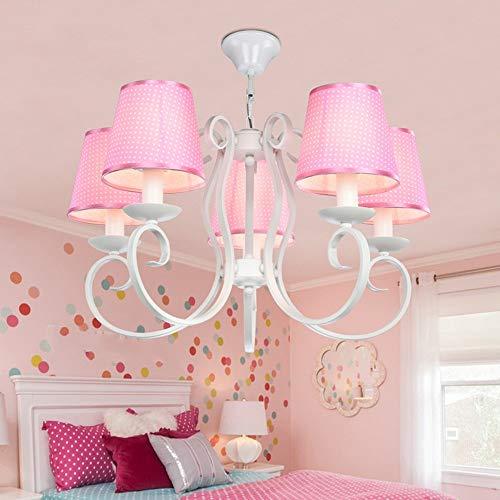 FXING Die Mädchen Kinder Zimmer kronleuchtern, kreative warme Baby Zimmer Schlafzimmer leuchten, Augenschutz Beleuchtung