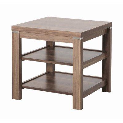 Haku-Möbel 42811 Beistelltisch 45 x 45 x 46 cm, nußbaum (Tisch Mdf-quadratischer)