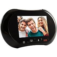 LKM Security® -Mirilla para puertas electrónico con función WIFI + GSM infrarrojo para visión nocturna con detector de movimiento, sistema Android.