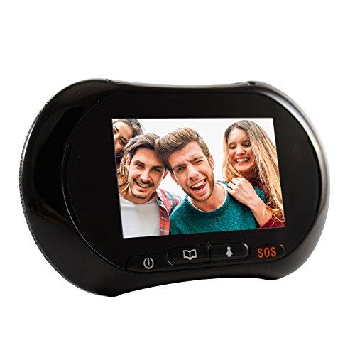 LKM Security ® reg; -Mirilla para Puertas electrónico con Función WiFi + gsm infrarrojo para Visión Nocturna con Detector de Movimiento, Sistema Android.