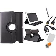 """Funda giratoria para Tablet Bq Edison 3 Quad Core 10.1"""" Color: Negro + Accesorios 7 en 1"""