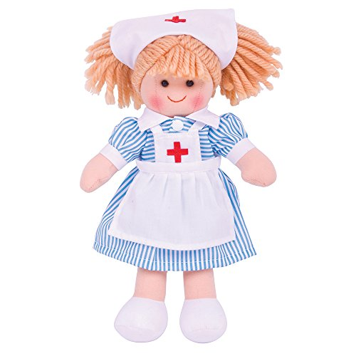 Bigjigs Toys Nurse Nancy 28cm Doll by Bigjigs Toys