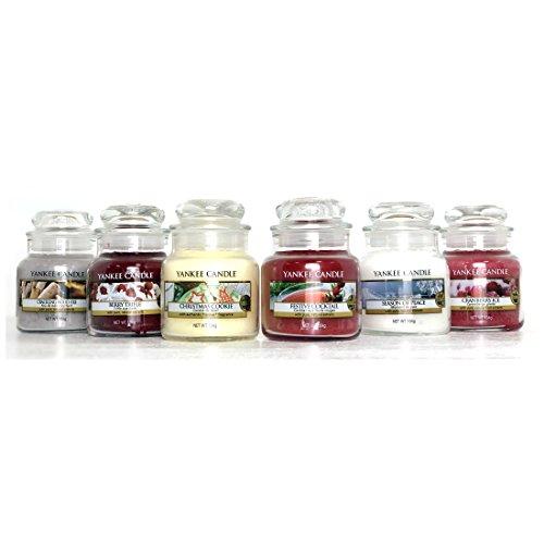andle Classic Christmas Festive Auswahl Box Geschenk Set von 6Signature Mini Kleine Marmeladengläser (Christmas In A Jar)