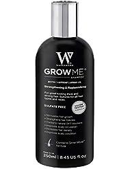 Grow Me® Hair Growth Shampoo, Sulphate Free, Vegan, Caffeine, Biotin, Argan Oil, Allantoin, Rosemary. Stimulates hair growth, Great for slow growing hair - Hair growth problems for Men and Women