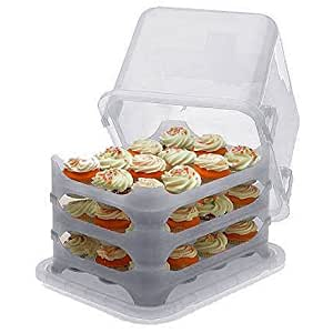 Makebake Cupcake Courier Cupcake Caddy - Holds 36 - White