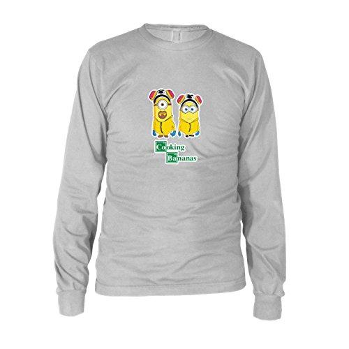 Kostüm Chemiker Bad - Cooking Bananas - Herren Langarm T-Shirt, Größe: L, Farbe: weiß