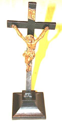 Antiquitäten - Kruzifix aus massivem Eisen