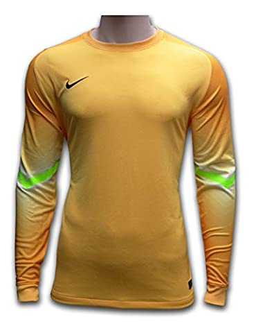 Nike Team Dri fit adult size soccer football goalie goalkeeper shirt yellow (Extra Large - XL)