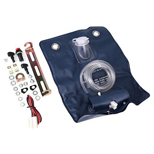 Preisvergleich Produktbild Oyamihin Universal Wisch Bottle Bag Kit mit 12 Volt-Pumpe für Classic Car 151286776374 Gute Leistung - Blau