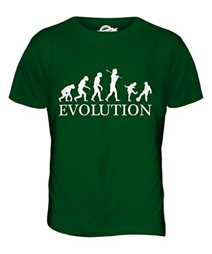 CandyMix Kinder Spielen Fußball Evolution Des Menschen Herren T Shirt Flaschengrün