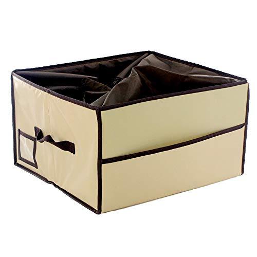 Bycws Speicherorganisator Halter Box-Faltbare Behälter Lagerung Schrank Organisatoren Bins Kein Deckel, Schlafzimmer Flur Eingang Badezimmer (2 STÜCKE)