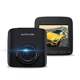 AUTO-VOX D5 2,4 Zoll Dashcam, HD 1520P Auto Kamera, 2,7K Auflösung 2688 x 1520P G-Sensor, Nachtsicht, 170 ° Weitwinkel, Video Recorder mit Loop-Aufnahme, Parkmonitor …