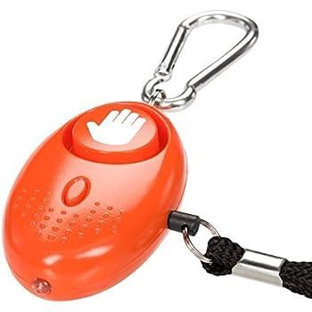 tiiwee alarme personnelle d 39 urgence avec torche orange 130db anti agression. Black Bedroom Furniture Sets. Home Design Ideas