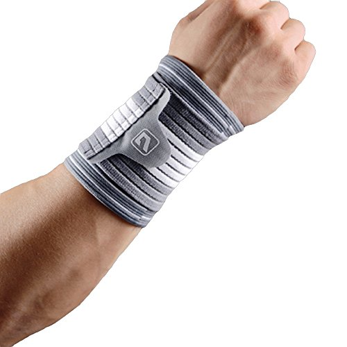 Liveup SPORTS Adjustable Elastic Wrist Support Straps Wraps Belt Protector for WeightLifting Bowling Football Exercise L Size