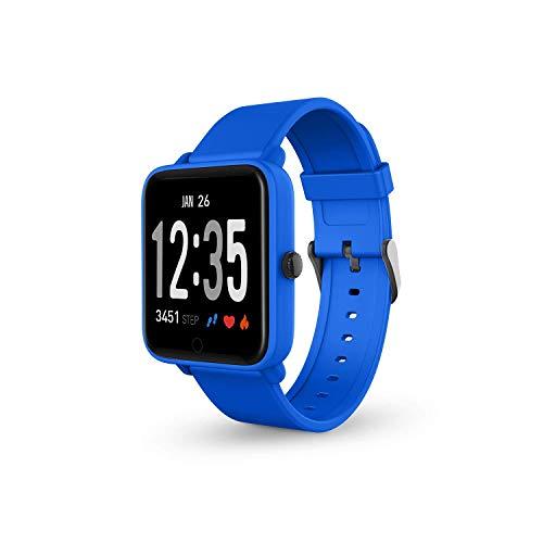 SPC Smartee Feel - Smartwatch (a prueba de agua IPX7, multideporte, notificaciones, podómetro, pulsómetro y monitor de sueño)  - Color Azul