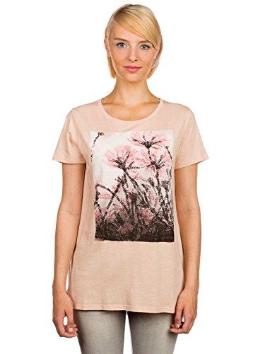 Iriedaily Stamp Flower W T-shirt Rose
