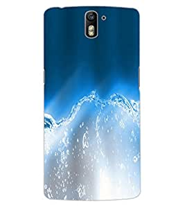 ColourCraft Lovely Water Design Back Case Cover for OnePlus One