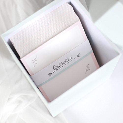 Gästebuchkarten mit Aufbewahrungsbox - 3