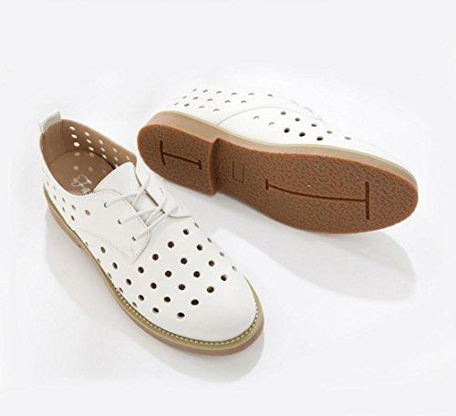 WZG Die neuen Frau Casual Sandalen England Gezeiten Schuhe hohlen Schuhe Sandalen Stanzen White