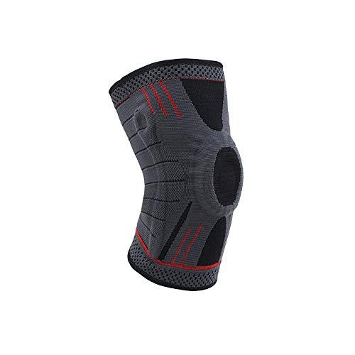 WXQQ SportKompression Knie Sleeve für Damen & Herren - Elastische Kniebandage - Atmungsaktive Kniestütze bei Meniskus-Beschwerden, Knie Arthrose, Sehnenentzündung & Bänderriss