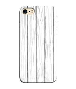 Fuson Designer Back Case Cover for Apple iPhone 7 (Wood Lakadi Antique Fashion Wood finish Dark Grey )