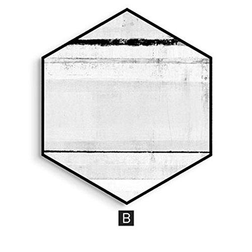 AINUO Decoration ainuo Deko Hänge Gemälde Bett Wohn/Esszimmer Traceless Nachttisch Abstraktes Individuelle Farbe Passende Sofa Hintergrund Wand, B, M