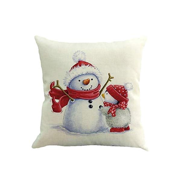 Ears Christmas Ornaments Home Decor Xmas Decor 4PC Weihnachten Kissenbezug Dekokissen Baumwolle Leinen Sofa Car Home Taillen Kissenbezug Dekokissen Fall