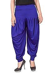 Navyataa Womens Lycra Dhoti Pants For Women Patiyala Dhoti Lycra Salwar Free Size Blue Color