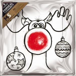 GBCC Almanac Charity Christmas Cards - Rudolph (7013) Pack Of 8 Cards - Sold In Support Of Multipule Sclerosis Society