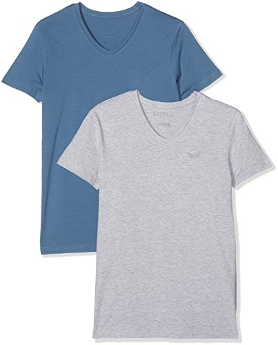 kaporal-gifte17m11-t-shirt-homme-lot-de-2-multicolore-jean-light-grey-mel-small-taille-fabricant-s