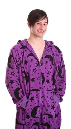 Schlafanzug, Hausanzug, Ganzkörper, einteiliger Schlafanzug, Erwachsenenstrampler, Strampler für Erwachsene WIZARD FUNZEE (Small)