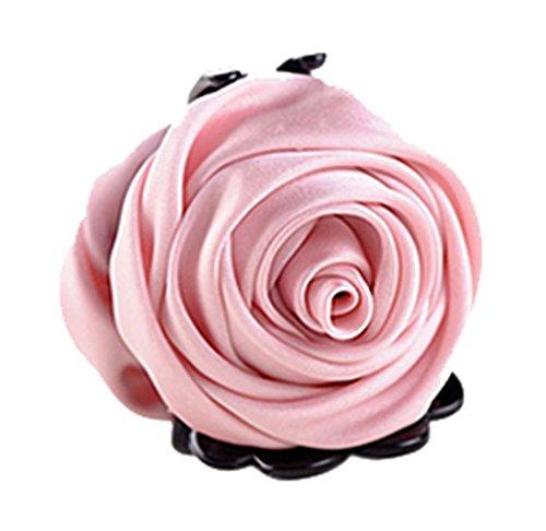 un Belles Clips Rose Fleur Cheveux Ponytail clip, rose