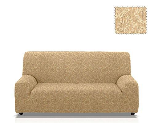 Funda de sofá elástica Kenzo Tamaño 4 plazas (de 210 a 240 Cm.), Color 01 (Varios colores disponibles.)