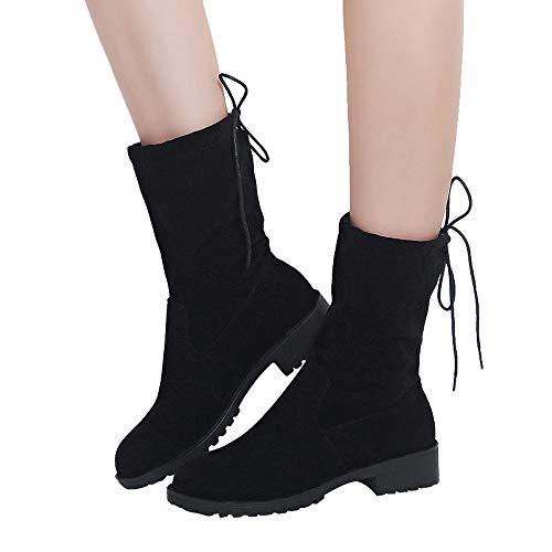 Stiefel Damen Herbst Winter Boot Aushöhlen Stiefeletten Halb Martin Stiefel Frauen Quadratischer Absatz Schuhe Freizeitschuhe ABsoar