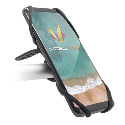 mobilefox® Fahrrad Lenker Handy Smartphone Halterung Halter Bike für Samsung Galaxy S10 S10+ S10e S9 S8 S7 S6 S5 S4 Note A3 A5 A6 A7 J1 J3 J5 J7