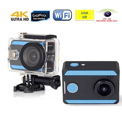 SONADY 4K WiFi Ultra Alta Definizione 1080P Impermeabile DV Fotocamera 12MP 170 Gradi grandangolare, Casco della Bicicletta, Sci e Sport Acquatici