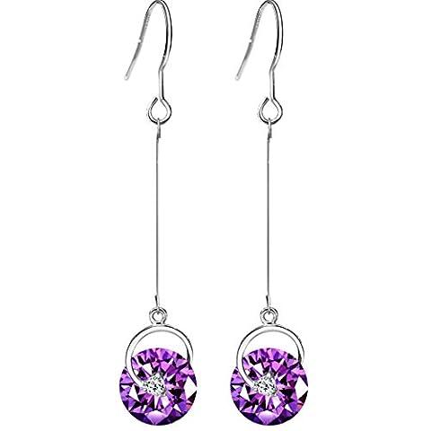 Neoglory fait avec Swarovski Elements faux diamant Boucles d'oreilles Pendantes