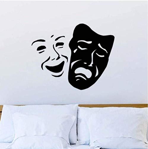 Máscara De Teatro Sonrisa Y Patrón De Cara Triste