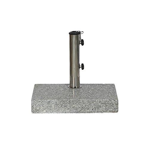 SIENAGARD 213345 Granitschirmständer, 25 kg, 45 x 28 cm für Schirmstöcke Durchmesser 25-48 mm, grau