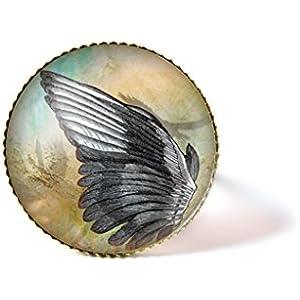 Ring mit Cabochon, Vogel