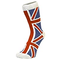 Socquettes mini chaussettes drapeau United Kingdom/Royaume-Uni Union Jack délavées