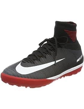 Nike Jr Mercurialx Proximo II DF TF, Botas de Fútbol Unisex Niños, Negro (Black/White University Red-Dark Grey...
