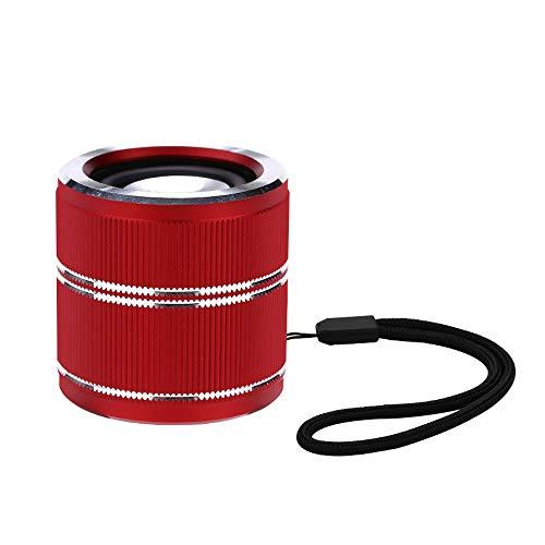HK Mini Super Mobiler Bluetooth Lautsprecher Speaker mit 6 Stunden Spielzeit, 20Meter Reichweite und Starkem Bass Tragbarer Lautsprecher, Wireless Speaker, mit für iPhone,Android,iPad,Laptops,Red
