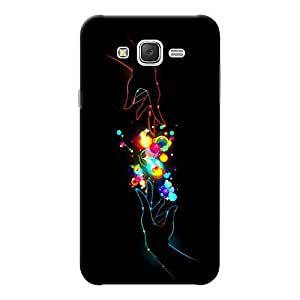 INKIF Beautiful Hands Abstact Designer Case Printed Mobile Back Cover for Samsung Galaxy J7 2015 (Black )