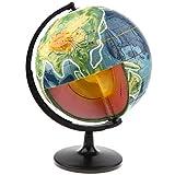 NON Sharplace Globo Terráqueo Cruzado Modelo Topografía Geografía Ciencia Ambiente Acogedor Cálido Jueguete de Diversión