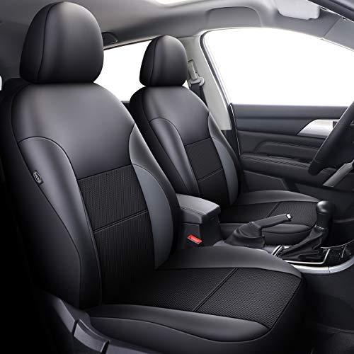 Set di coprisedili per auto, in similpelle, neri, compatibili con airbag Captur Clio Kadjar Laguna Talisman Vectra Avensis Hilux
