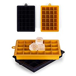 Blumtal Eiswürfelform Silikon 2x24er Pack - BPA frei, Leichtes Herauslösen der Eiswürfel, Silikon Form, 2er Set