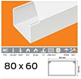(3,99euros/M) 10m de câble Canal 80x 60mm PVC couleur Blanc